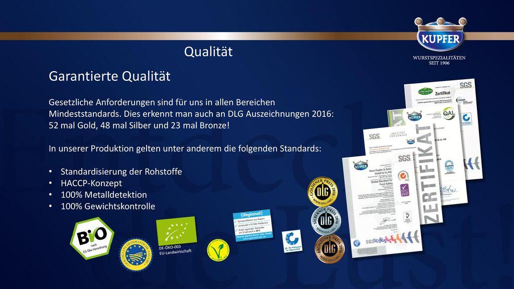 Qualität Garantierte Qualität
