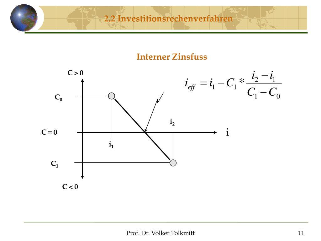 2.2 Investitionsrechenverfahren