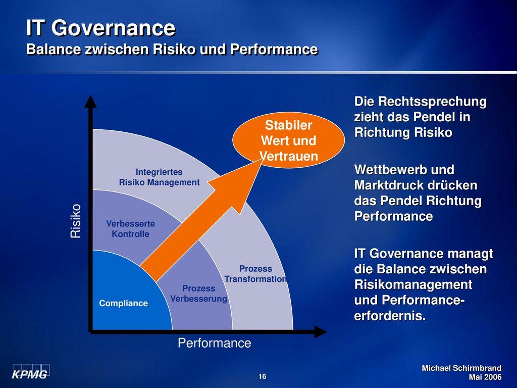 IT Governance Balance zwischen Risiko und Performance