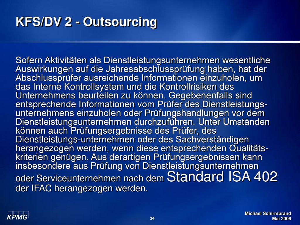 KFS/DV 2 - Outsourcing