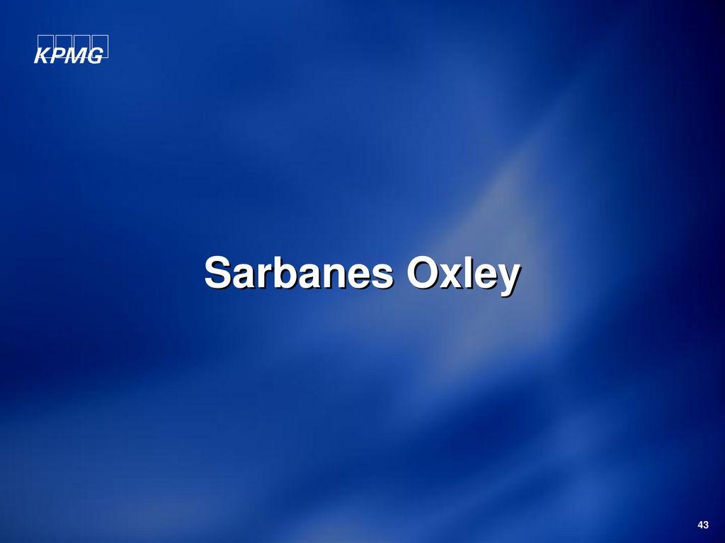 Sarbanes Oxley