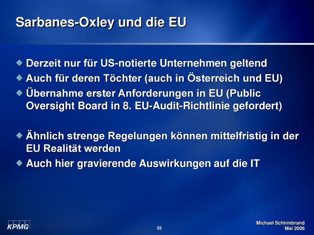 Sarbanes-Oxley und die EU