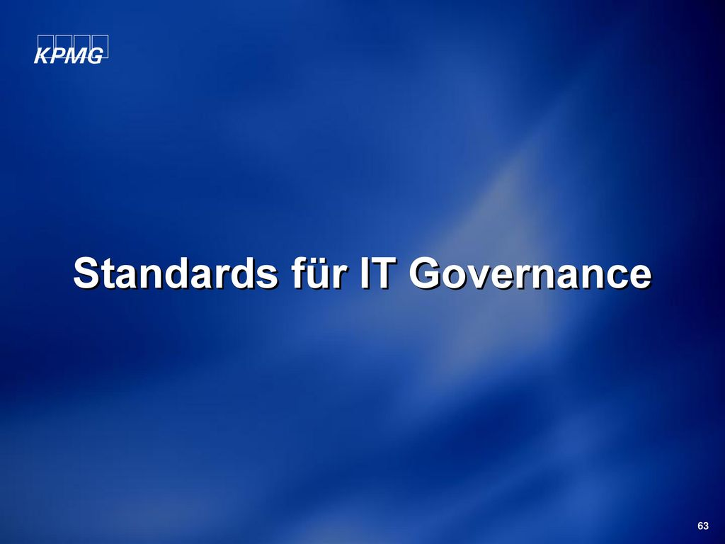 Standards für IT Governance
