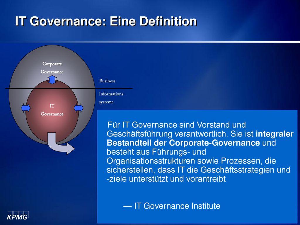 IT Governance: Eine Definition