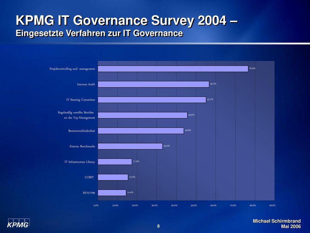 KPMG IT Governance Survey 2004 – Eingesetzte Verfahren zur IT Governance
