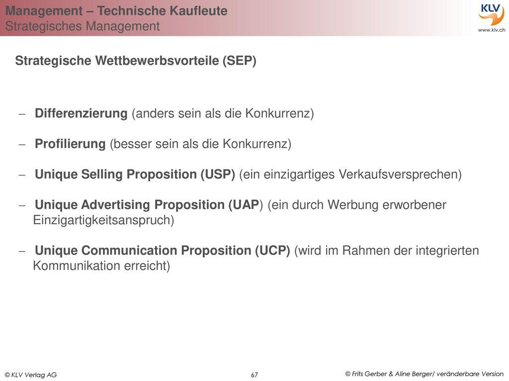 Strategische Wettbewerbsvorteile (SEP)
