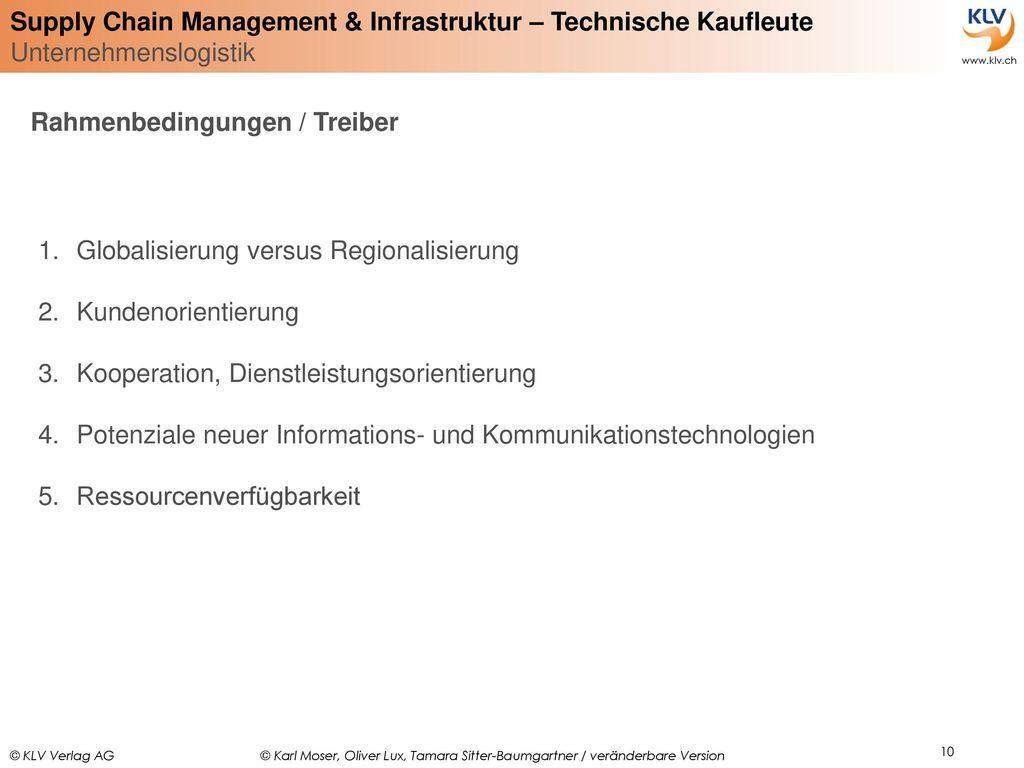 Rahmenbedingungen / Treiber
