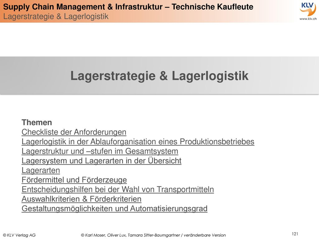 Lagerstrategie & Lagerlogistik