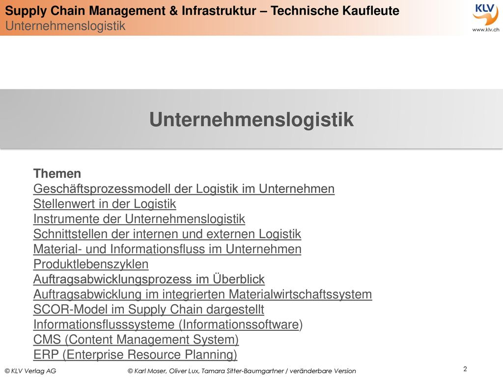 Unternehmenslogistik