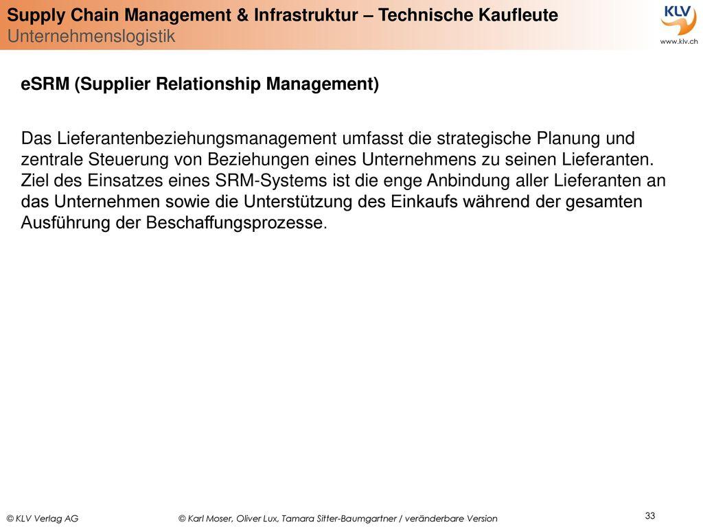 eSRM (Supplier Relationship Management)