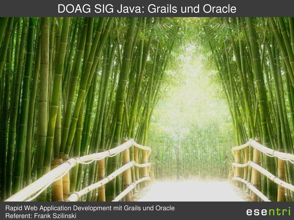 DOAG SIG Java: Grails und Oracle