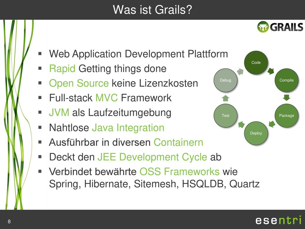 Was ist Grails Web Application Development Plattform