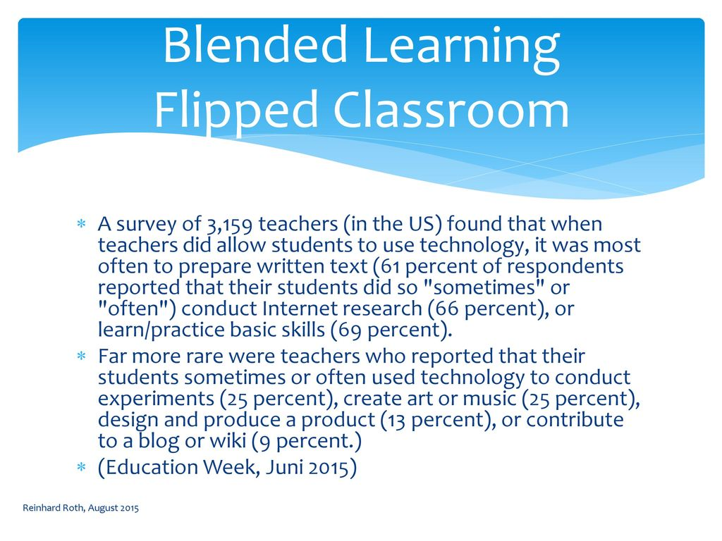 Blended Learning Flipped Classroom