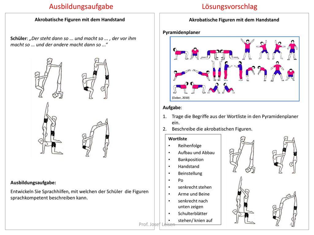 Akrobatische Figuren mit dem Handstand