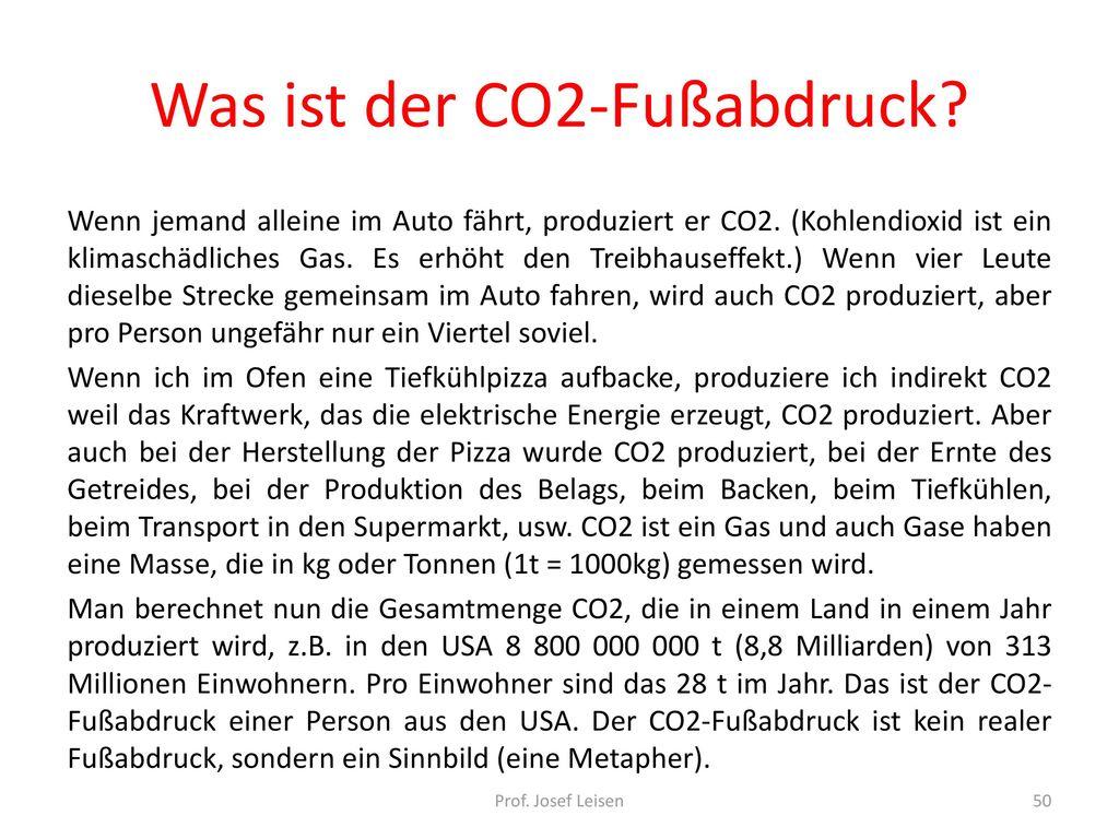 Was ist der CO2-Fußabdruck