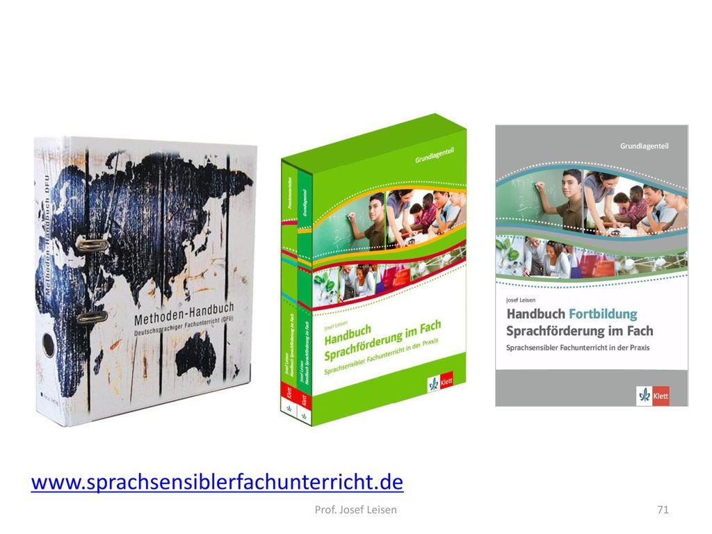 www.sprachsensiblerfachunterricht.de Prof. Josef Leisen 71