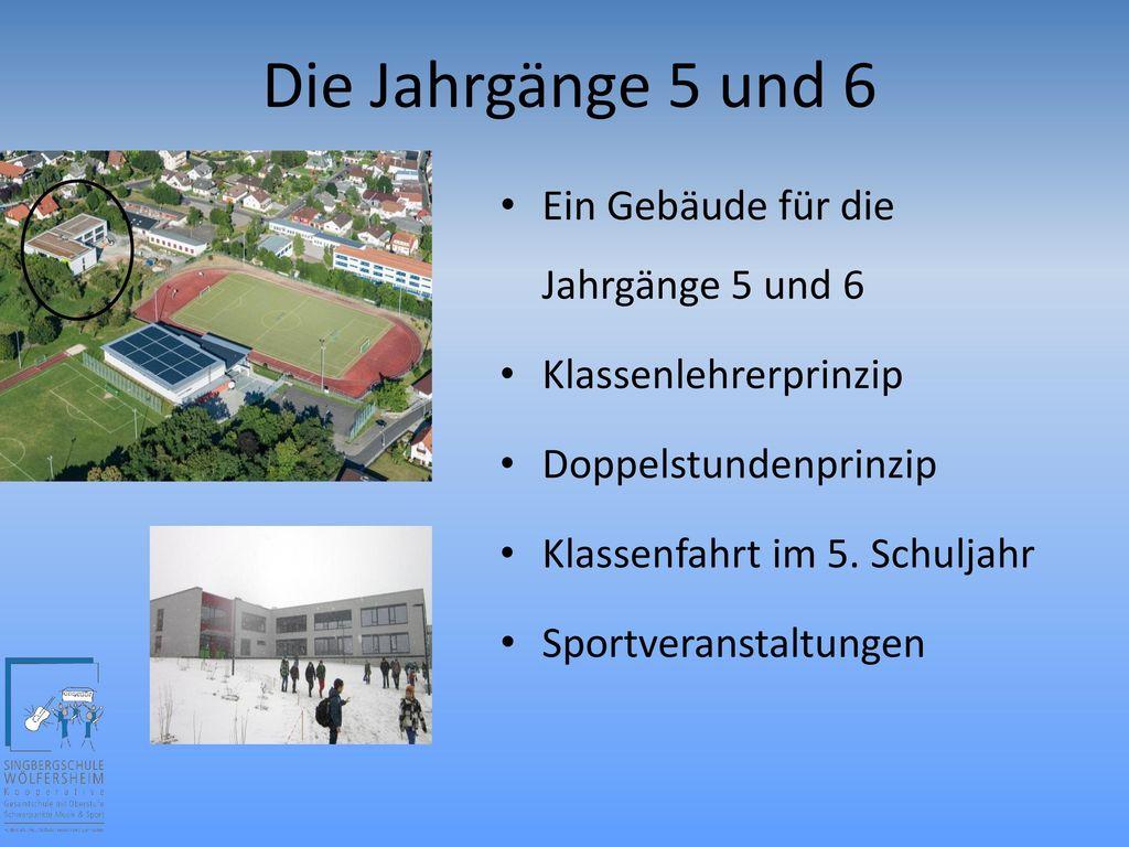Die Jahrgänge 5 und 6 Ein Gebäude für die Jahrgänge 5 und 6