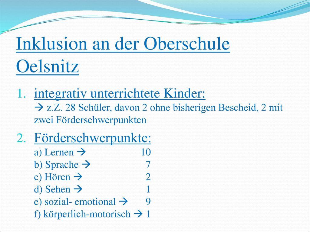 Inklusion an der Oberschule Oelsnitz