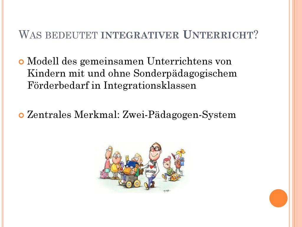Was bedeutet integrativer Unterricht