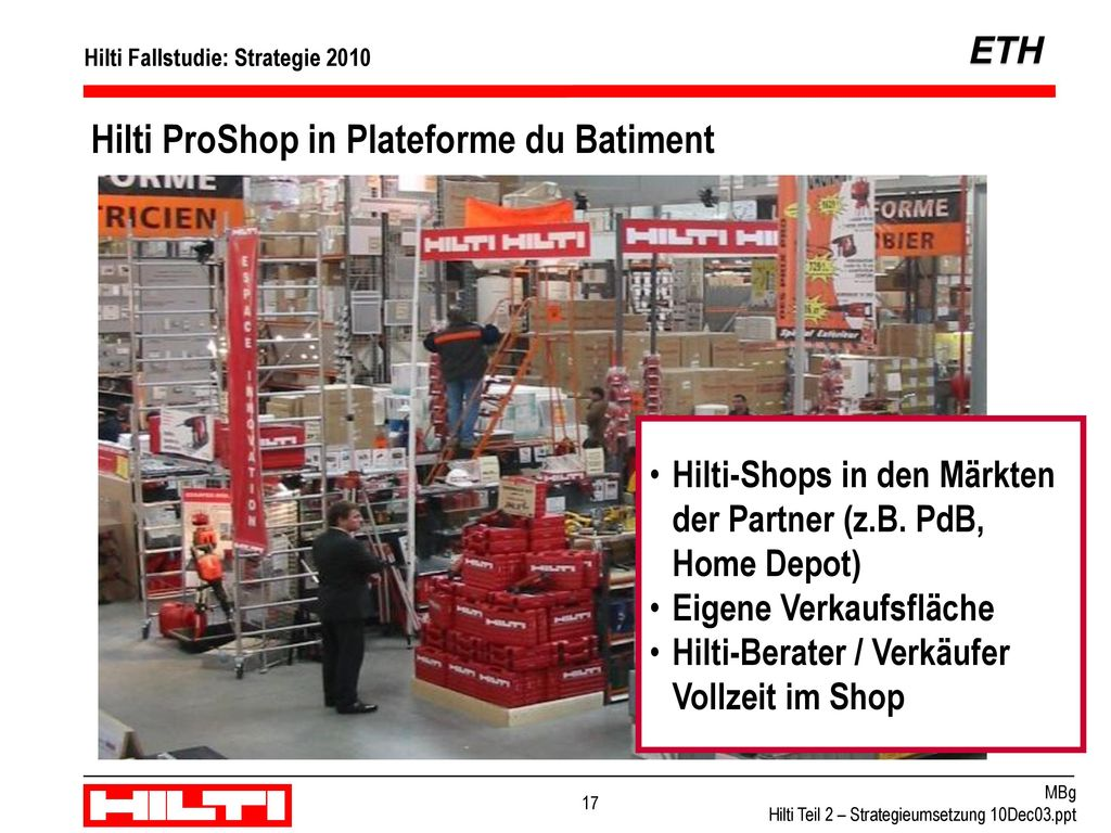 Hilti ProShop in Plateforme du Batiment