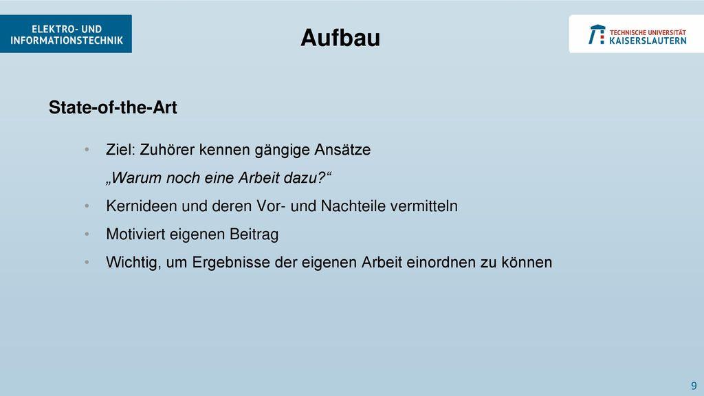 Aufbau State-of-the-Art