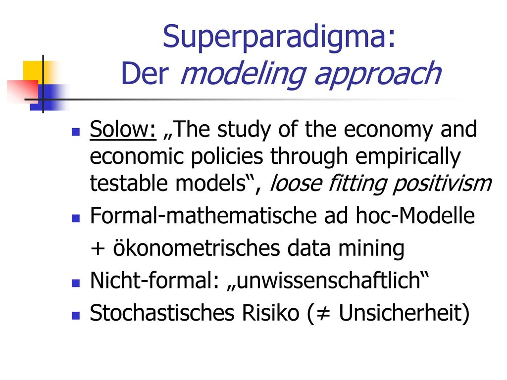 Superparadigma: Der modeling approach
