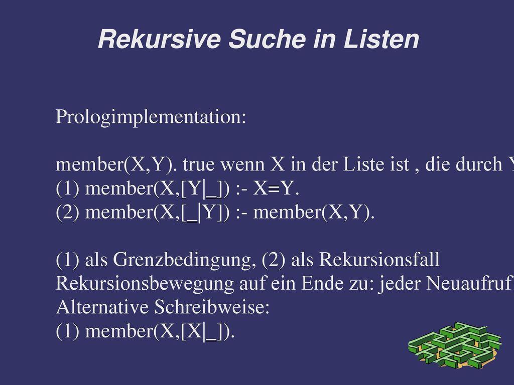 Rekursive Suche in Listen