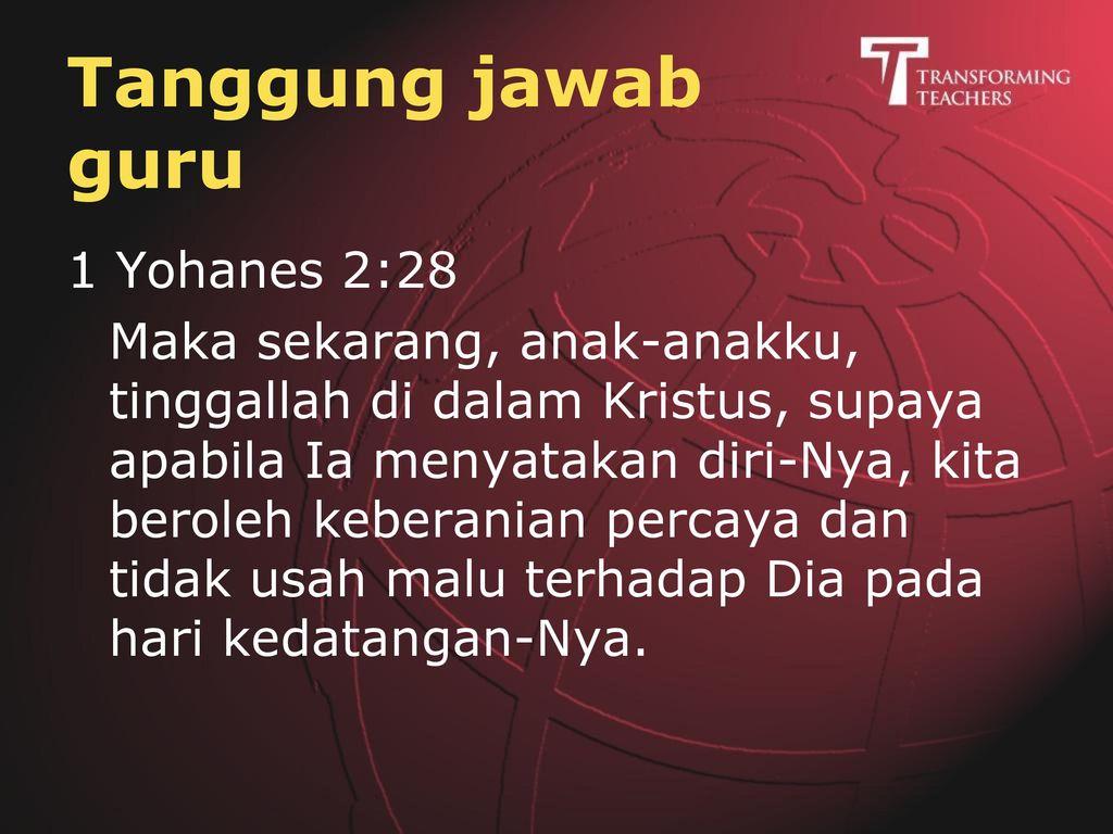 Tanggung jawab guru Yakobus 3:1-2