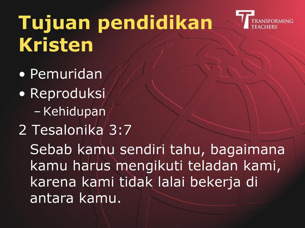 Tujuan pendidikan Kristen