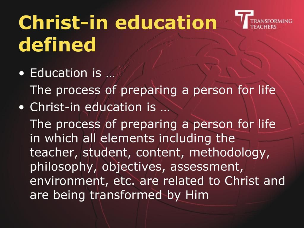 Christ-in education defined