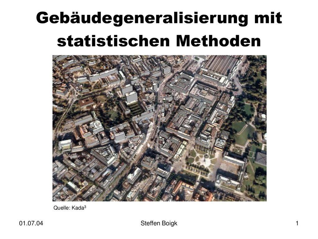 Gebäudegeneralisierung mit statistischen Methoden