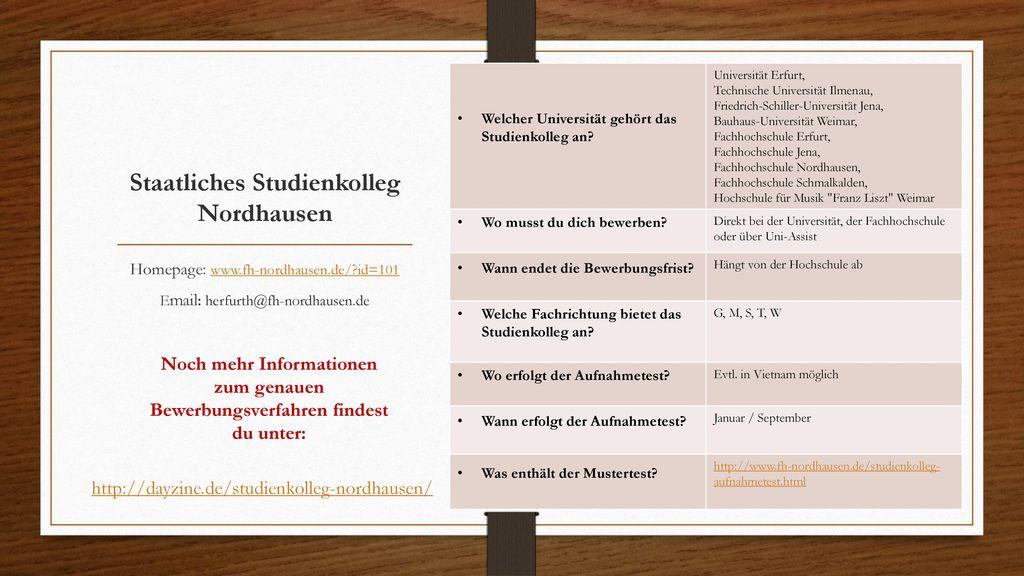Staatliches Studienkolleg Nordhausen