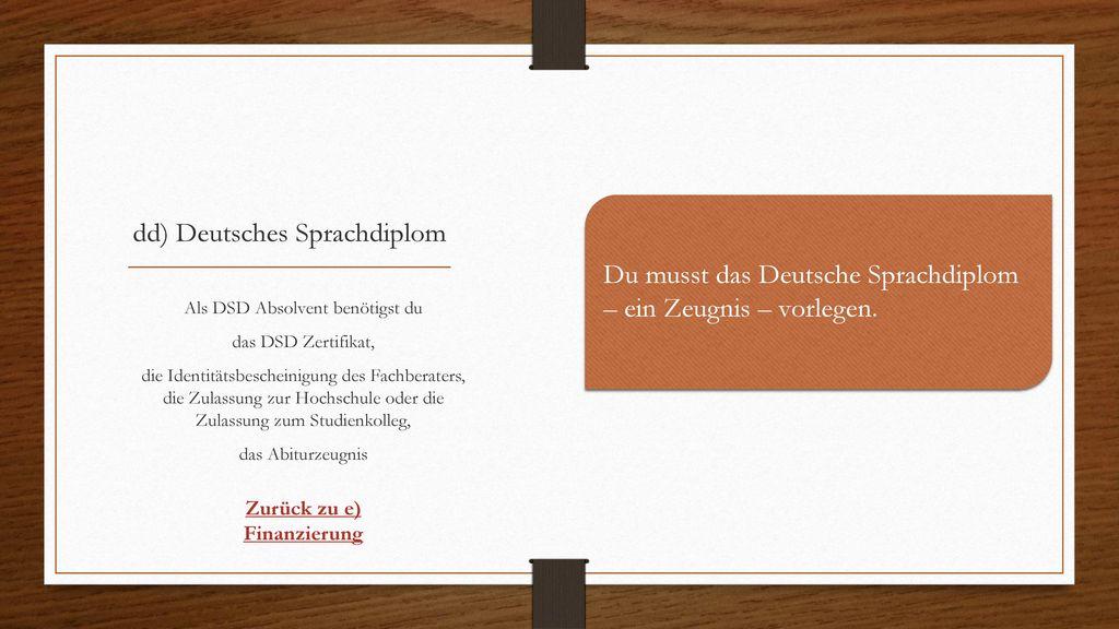 dd) Deutsches Sprachdiplom