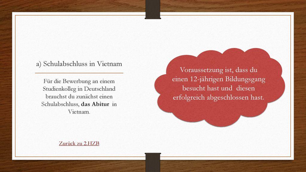 a) Schulabschluss in Vietnam