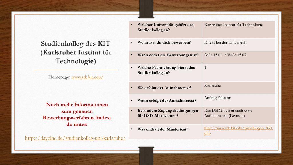 Studienkolleg des KIT (Karlsruher Institut für Technologie)