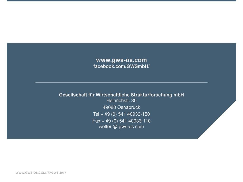 www.gws-os.com facebook.com/GWSmbH/