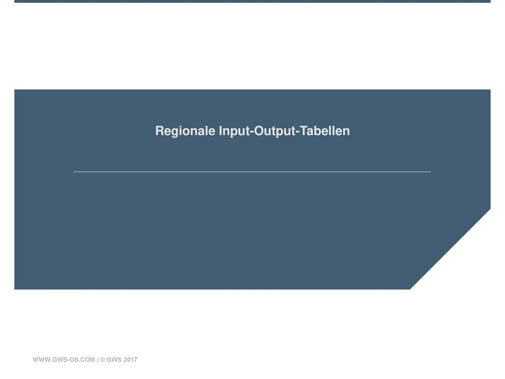 Regionale Input-Output-Tabellen