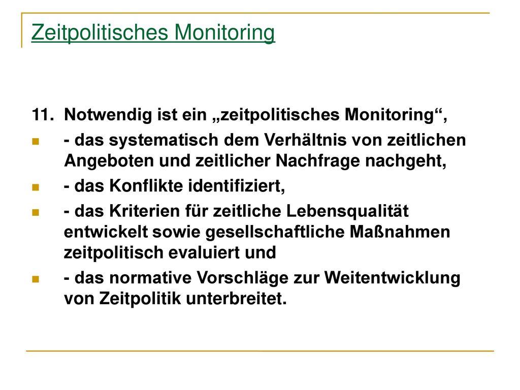 Zeitpolitisches Monitoring