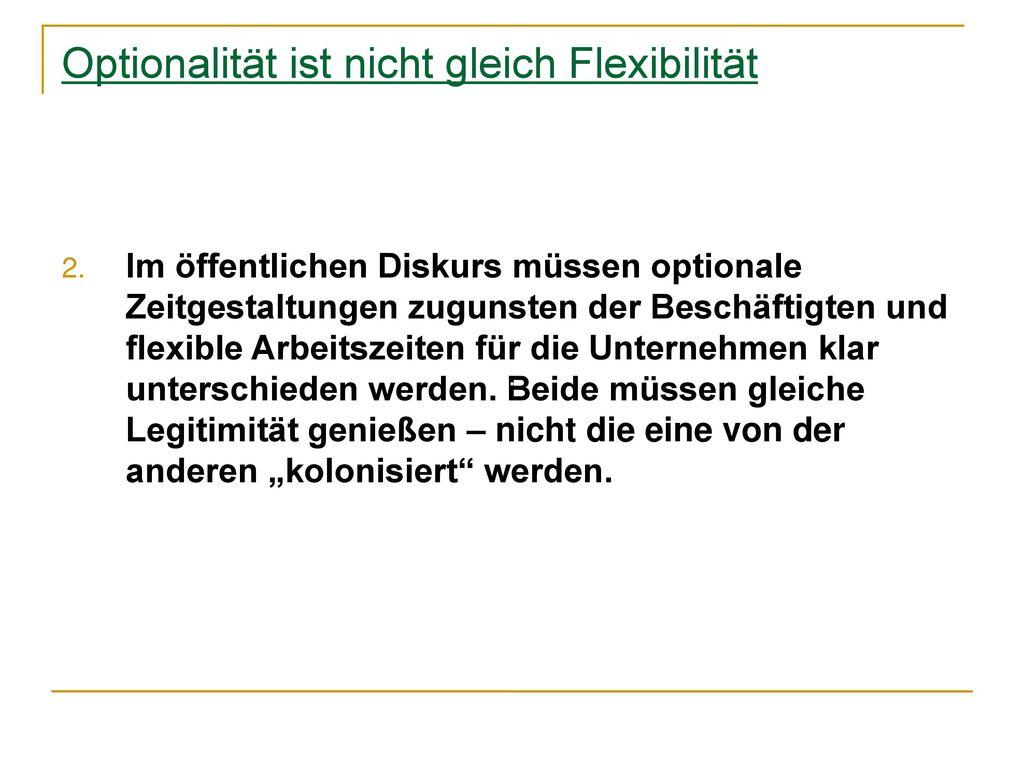 Optionalität ist nicht gleich Flexibilität