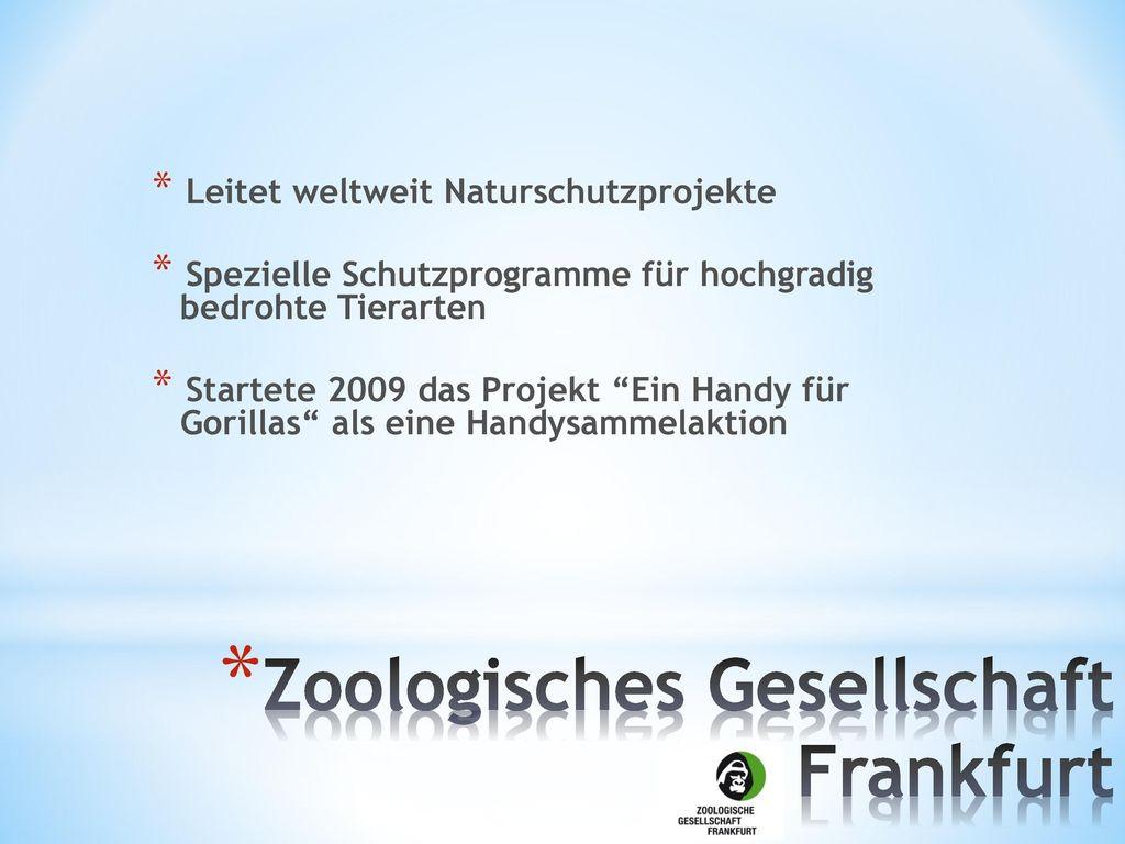 Zoologisches Gesellschaft Frankfurt