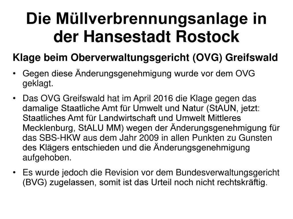 Die Müllverbrennungsanlage in der Hansestadt Rostock