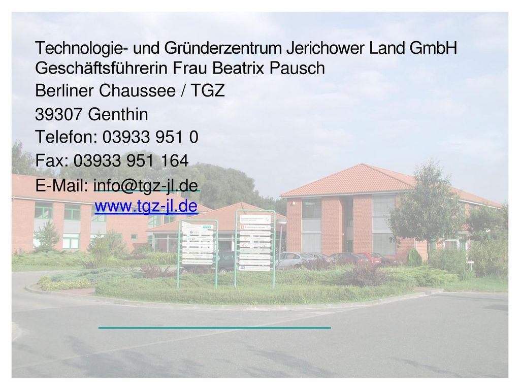 Technologie- und Gründerzentrum Jerichower Land GmbH