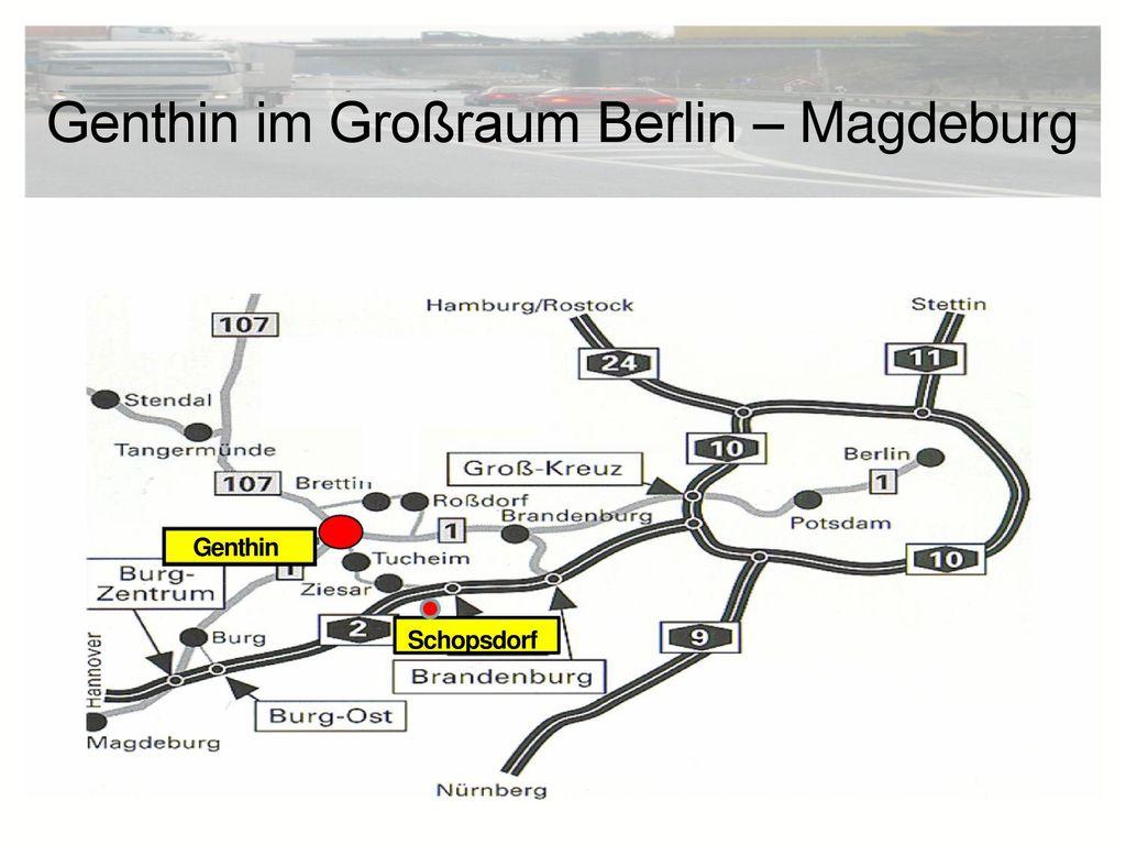 Genthin im Großraum Berlin – Magdeburg