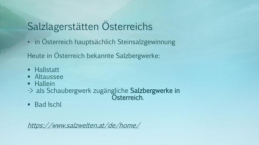 Salzlagerstätten Österreichs