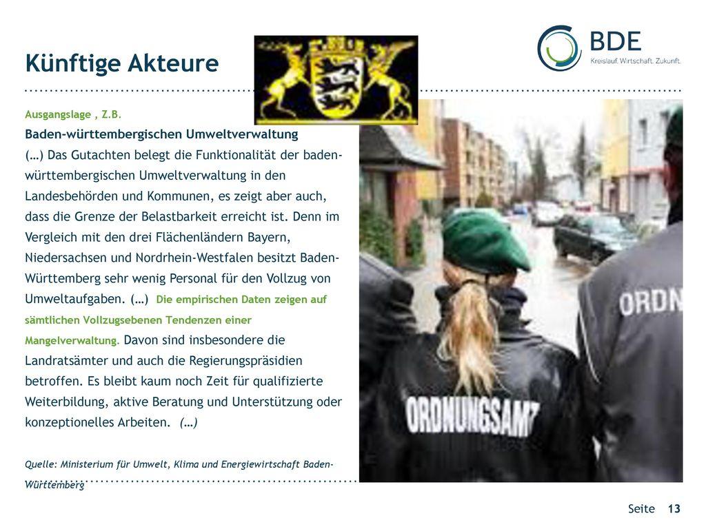 Künftige Akteure Baden-württembergischen Umweltverwaltung