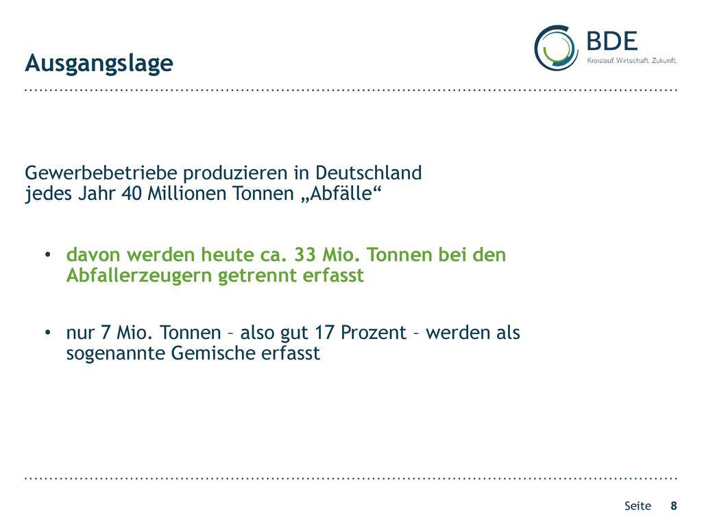 Ausgangslage Gewerbebetriebe produzieren in Deutschland