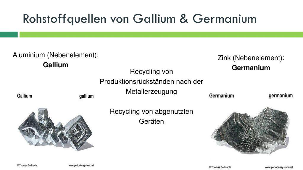 Rohstoffquellen von Gallium & Germanium