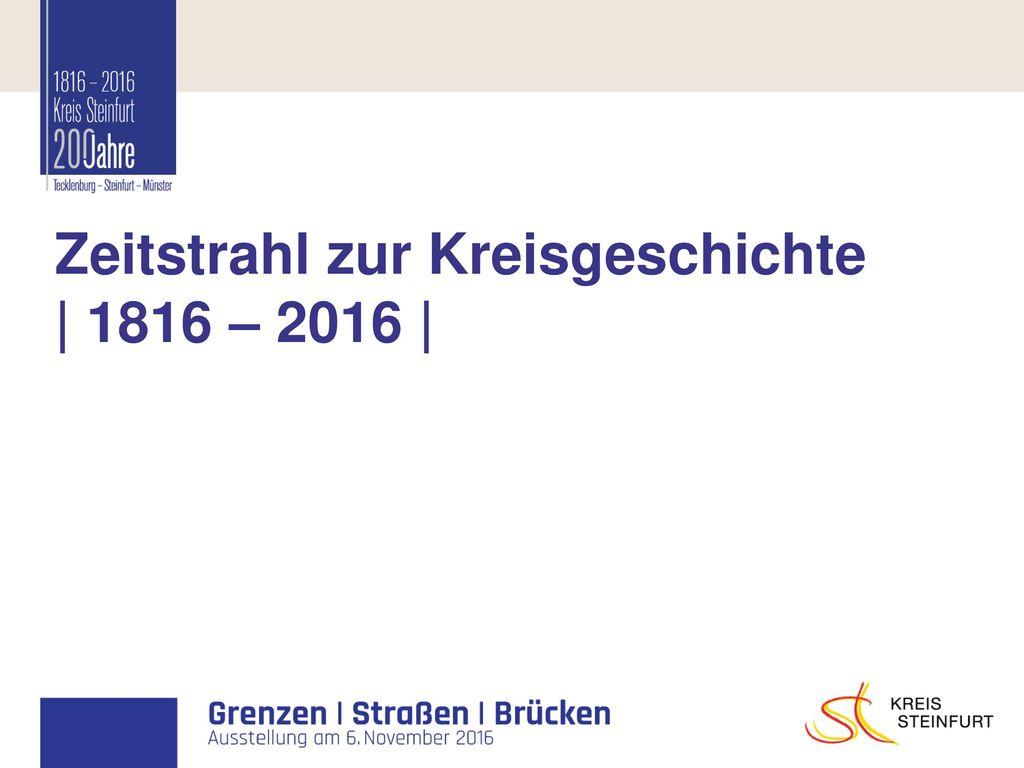 Zeitstrahl zur Kreisgeschichte | 1816 – 2016 |
