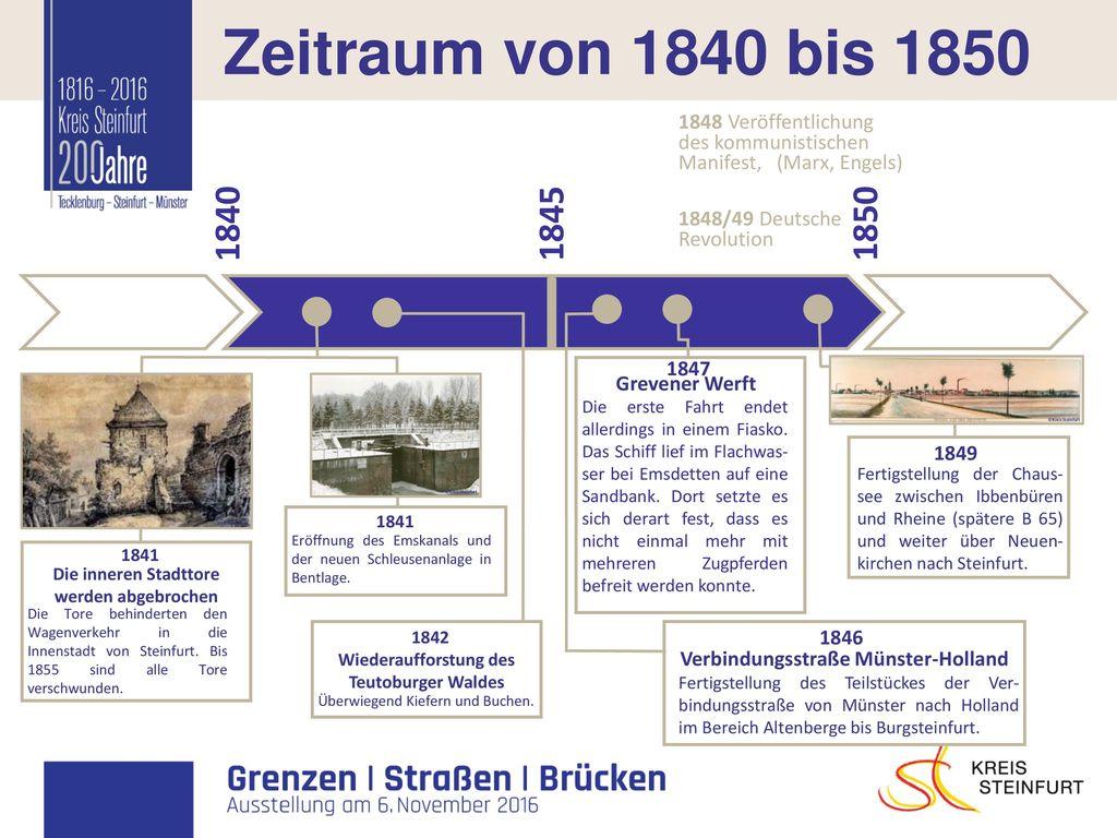I Zeitraum von 1840 bis 1850 1840 1845 1850 1848 Veröffentlichung