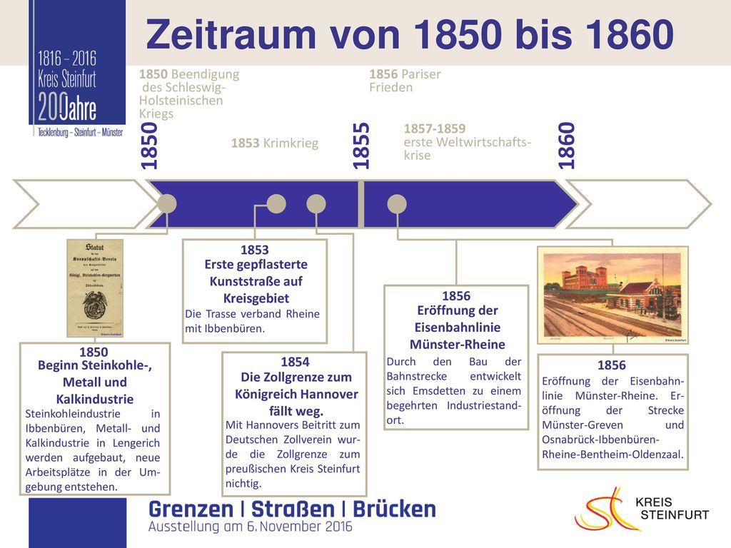 I Zeitraum von 1850 bis 1860 1850 1855 1860 1850 Beendigung